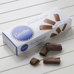 Crêpes Dentelles mit Schokoladenüberzug Vollmilschschokolade