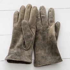Herren Handschuh aus Ziegenleder Schlamm Gr. 7,5