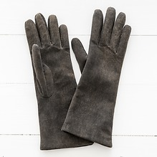 Damen Handschuh aus Ziegenleder Walnuß