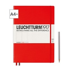 Leuchtturm1917 Notizbuch A4+ Master Slim Blanko Rot