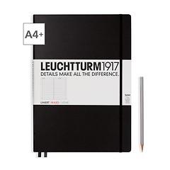 Leuchtturm1917 Notizbuch A4+ Master Slim Liniert Schwarz