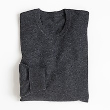 Torquato Lambswool Pullover Rundhals Charcoal Gr.48
