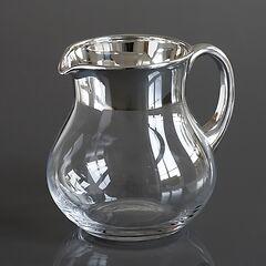 Krug mit Feinsilberrand 1,5 l Silber poliert