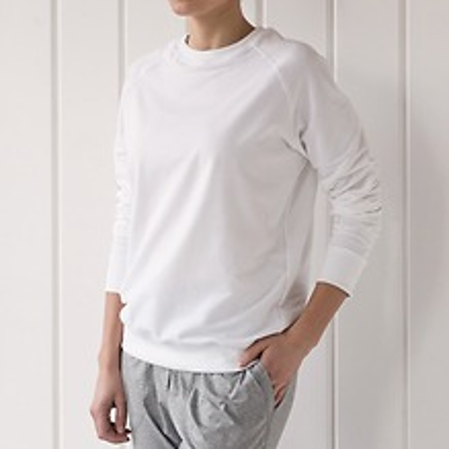 Sunday in Bed Pyjamashirt Rugby Langarm Weiß S