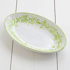 Ruggeri Ovale Platte Adelasia Ø 36 cm Adelasia Verde Mela