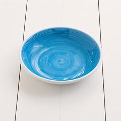 Ruggeri Suppenteller Brushed Ø 22 cm Brushed Azzurro