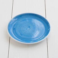 Ruggeri Mittlerer Teller Brushed Ø 26 cm Brushed Azzurro