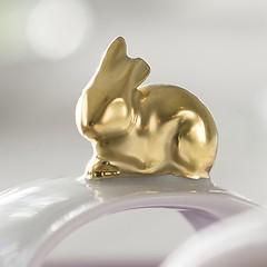 Hasen Servietten Ring Gold