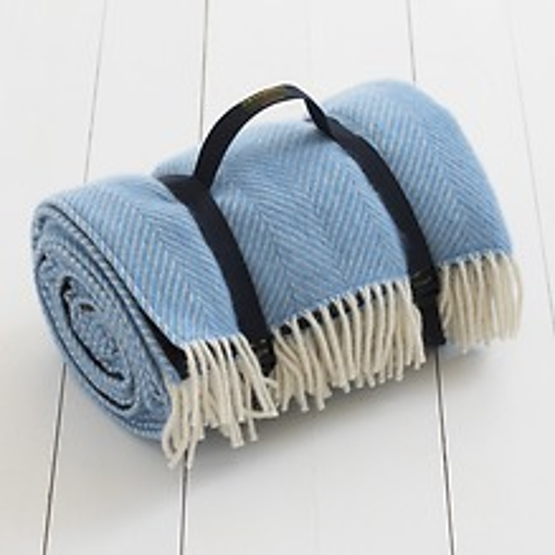 Tweedmill Picknickdecke Blau
