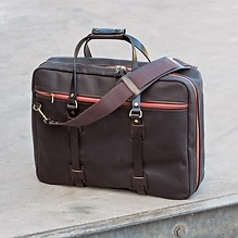 Croots Vintage Canvas Flight Bag Braun