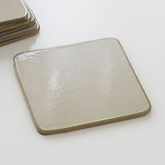 6 Untersetzer Stone Grey/Gold