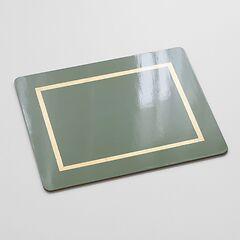 4 Tischsets Greenstone/Gold