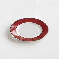 Porcelaine de Limoges Kleiner Teller Himbeerrot