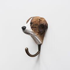 Handgeschnitzte Kleiderhaken Hund