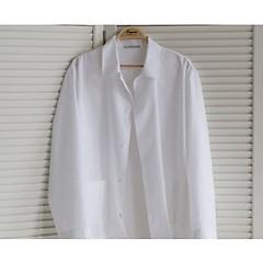 Sunday in Bed Pyjamajacke Ingolf Cotton Weiß