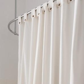 Duschvorhang mit Schlaufen