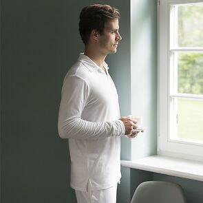 Sunday in Bed Pyjamashirt Morris Langarm Grau XL