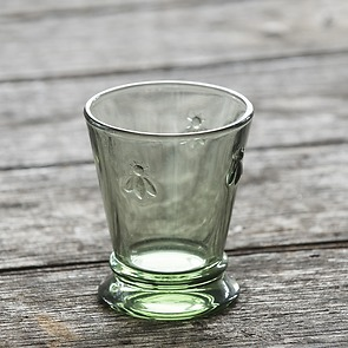 La Rochere 6 Trinkgläser mit Biene Olivgrün