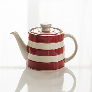 Teekanne Cornishware Rot