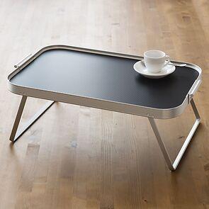 Kaymet Bett- und Serviertablett Aluminium/Schwarz