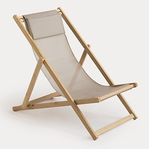 Liegestuhl Relax Robinie Taupe