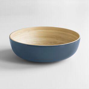 Salatschüssel Bambus XL Blaugrau
