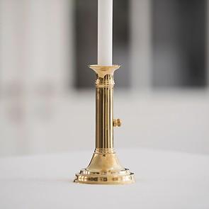 Schiebeleuchter 1830 aus Messing poliert
