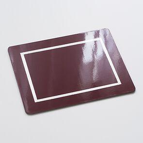 4 Tischsets 45 x 35 cm Bordeaux/Silver
