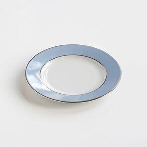 Porcelaine de Limoges Kleiner Teller Eisblau