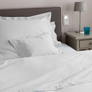 Bettbezug Perkal 200 x 200 cm Weiß