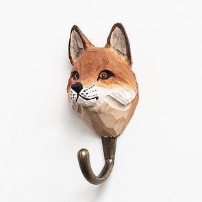 Handgeschnitzter Kleiderhaken Fuchs