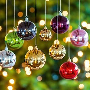 4 Lauschaer Weihnachtskugeln 10 cm