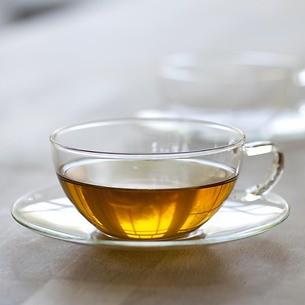 Teetasse mit Untertasse Borosilikatsglas