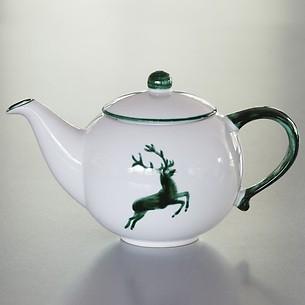Grüner Hirsch Teekanne