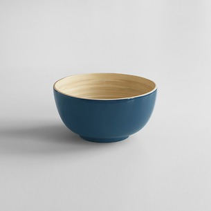 Bambus Salatschüssel S Blaugrau