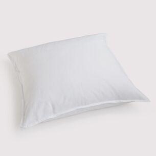 Torquato Kissenbezug Leinen 80 x 80 cm Weiß