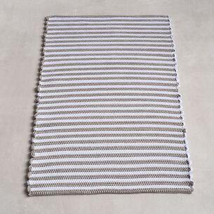 Badezimmerteppiche Nilo Hellgrau/Weiß