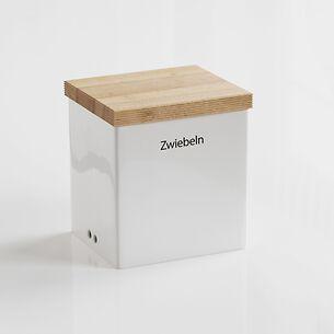 Zwiebel-Vorratsdose mit Holzdeckel