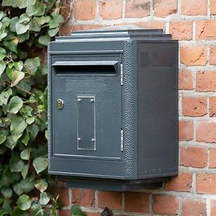 Briefkasten La Boîte Jaune Grand Modèle 1950 Dunkelgrau