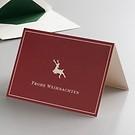Klappkarte Frohe Weihnachten Hirsch