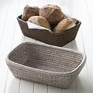 Kleine Brotkörbe aus Rattangeflecht