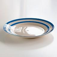 4 Große Teller Cornishware Blau