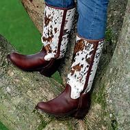 Spanische Stiefel Kuhfell