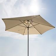 Alu-Sonnenschirm Natur