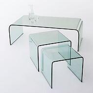 Bow Wohnzimmertische aus Glas