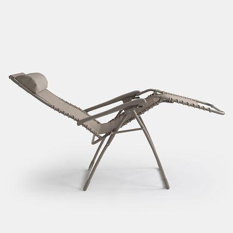 FIAM Komfortliegestuhl Relax Taupe