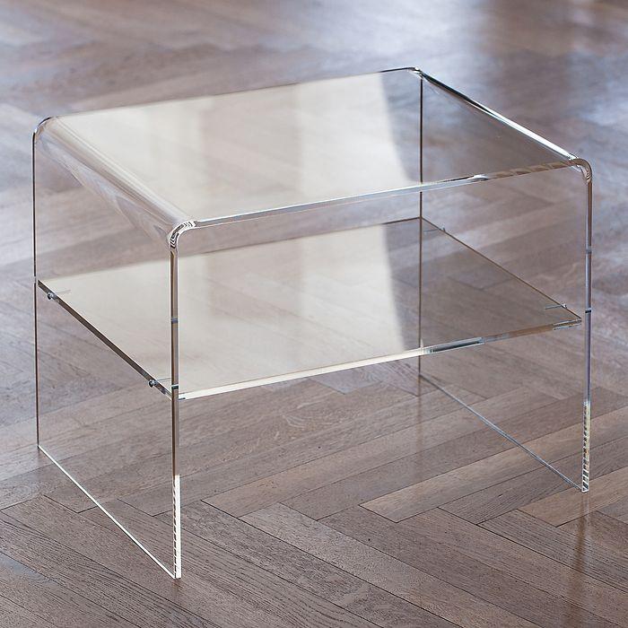 Acryl-Beistelltisch 38 cm klar