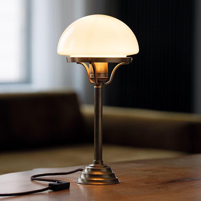 Berliner Messing Tischlampe Pilz