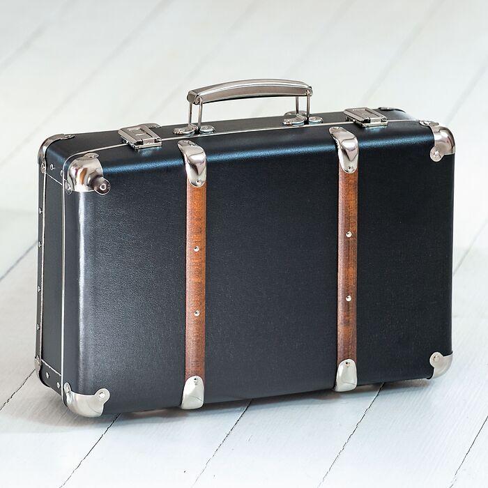 Kinderkoffer mit Holzleisten L