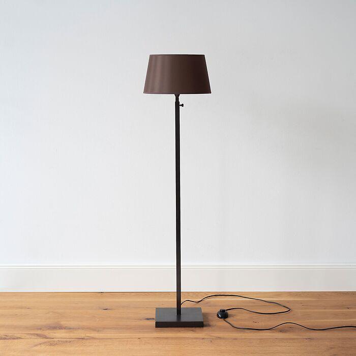 Verstellbare Stehleuchte L (120-168 cm) Schwarz
